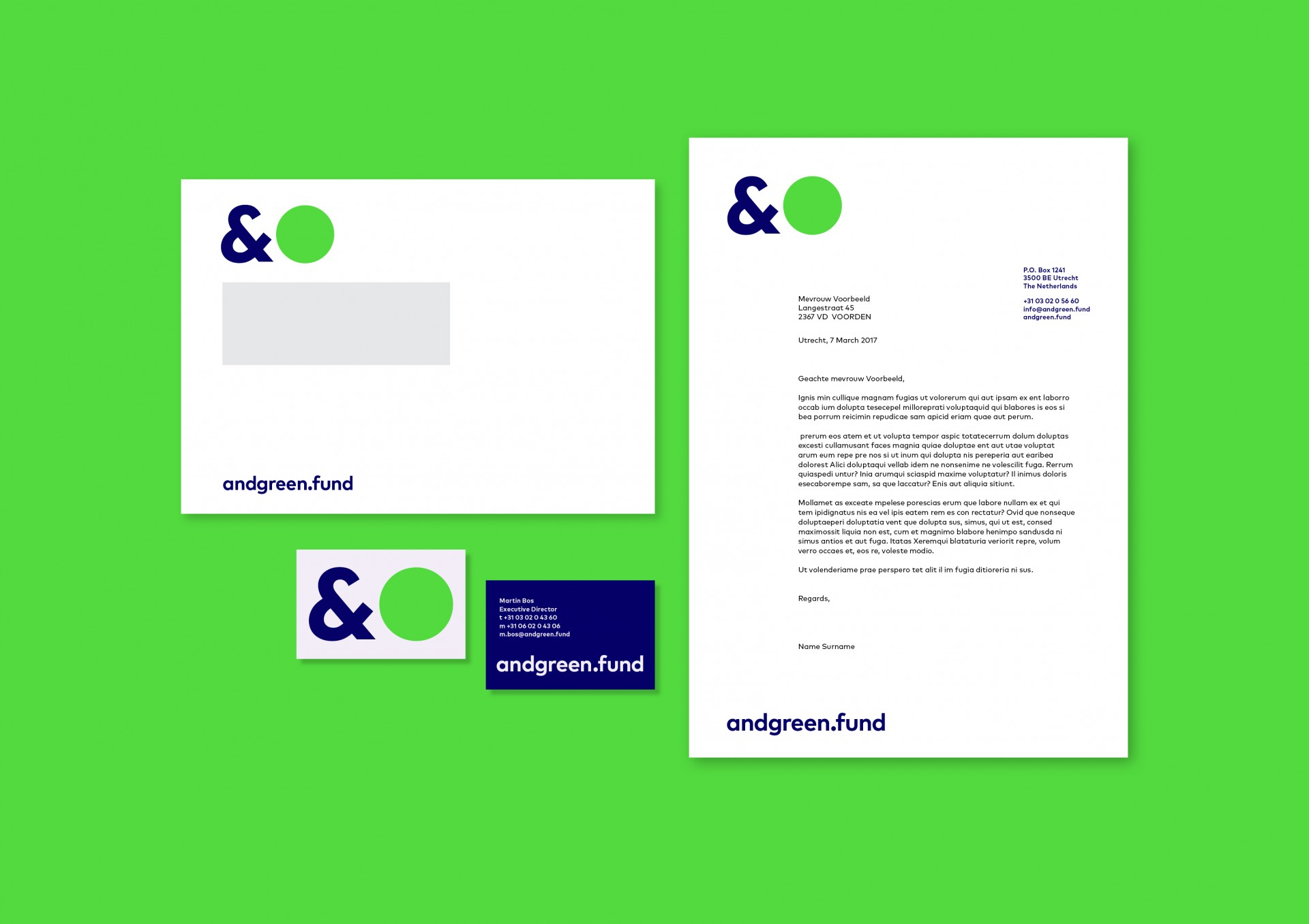 Jessica Minn andgreen.fund | Visual Identity