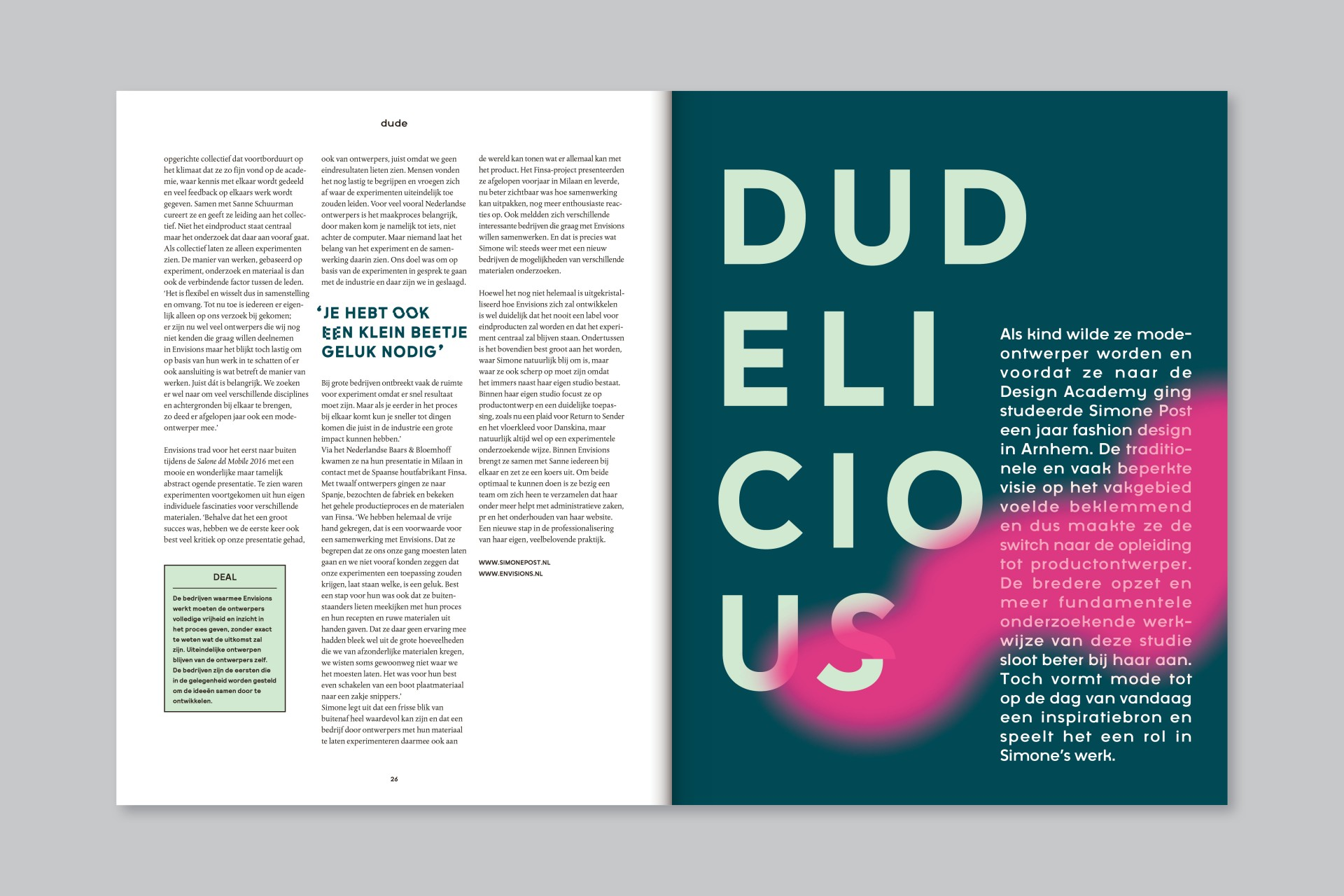 Jessica Minn DUDE Magazine | Editorial design